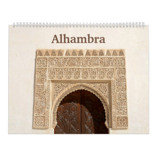 12 month Alhambra & Generalife Wall Calendar