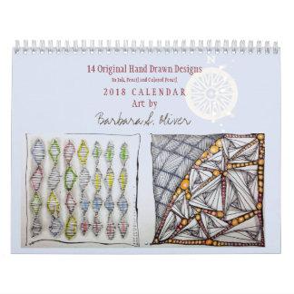 12 Month Calendar w/Original Art