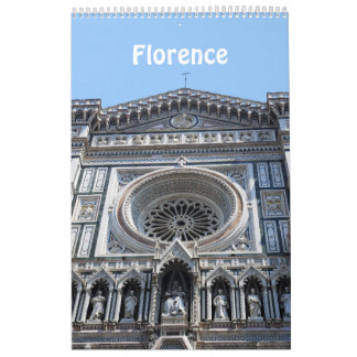 12 month Florence, Italy Photo calendar