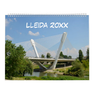12 month Lleida, Spain 2017 Wall Calendars