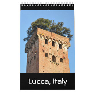 12 month Lucca, Italy Photo Calendar