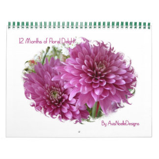 12 Months of Floral Delight-Flowers Wall Calendars