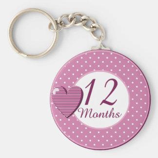 12 Months Rocker Girl Milestone Keychains