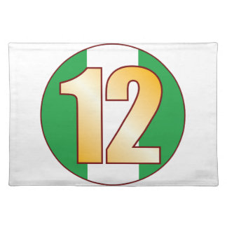 12 NIGERIA Gold Placemat