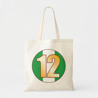 12 NIGERIA Gold Tote Bag
