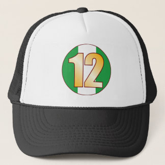 12 NIGERIA Gold Trucker Hat