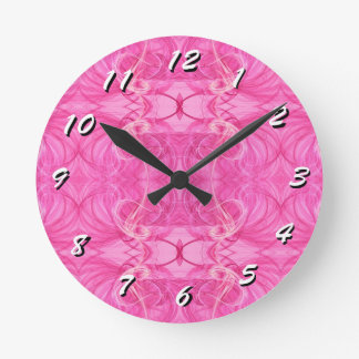 12 Number Choices to Choose-Fractal Art-Clock Round Clock