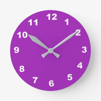 12 Number Choices to Choose From Lavender Clock