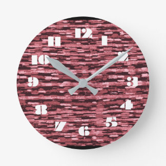 12 Number Choices to Choose From Pink Clock