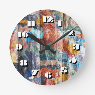 12 Number Choices to Choose -Graffiti-Clock Round Clock