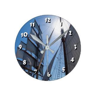 12 Number Choices to Choose-Ship Sails-Clock Wallclocks