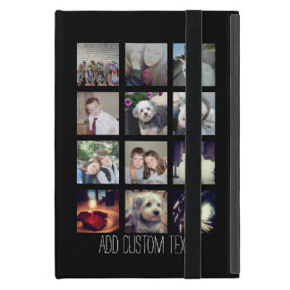 12 Photo Instagram Collage with Black Background iPad Mini Cover