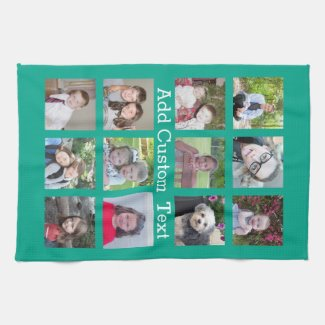 Photo Collage Tea Towel