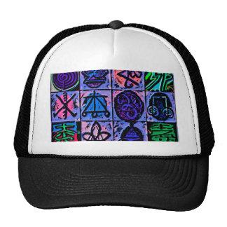 12 Reiki n Karuna Healing Signs Blue V15 Trucker Hat