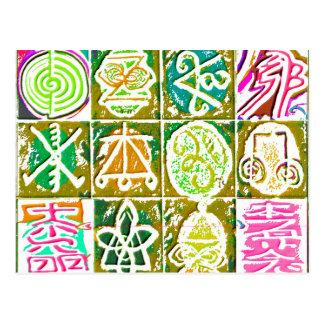 12 Reiki n Karuna Healing Signs  V14 Postcard