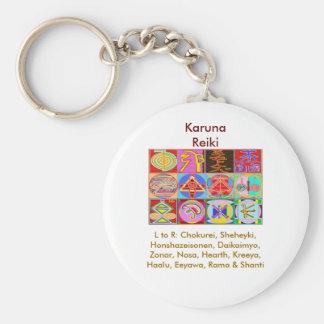12 Reiki n Karuna Reiki Healing Designs Basic Round Button Key Ring