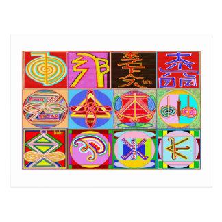 12 Reiki n Karuna Reiki Healing Designs Postcard