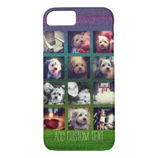 12 square instagram photo collage colorful design iPhone 8/7 case