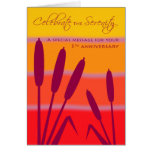 12 Step Birthday Anniversary 5 Years Clean Sober Greeting Card