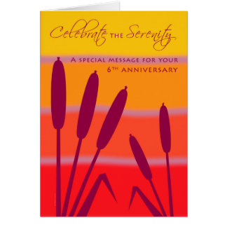 12 Step Birthday Anniversary 6 Years Clean Sober Greeting Card