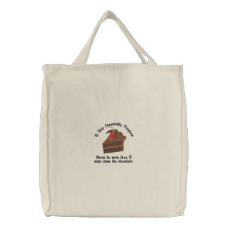 12 Step Chocoholic Embroidered Tote Bags