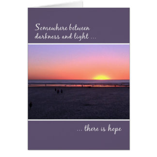 12 Step Recovery Anniversary Birthday Beach Sunset Card