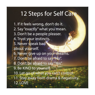 12 Steps for Self Care Canvas Print