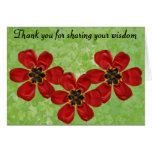 12 Thank You For Sharing Your Wisdom Card