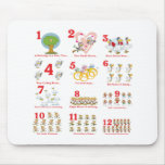 12 twelves days of christmas complete mouse pad