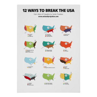 12 Ways to Break the USA Poster