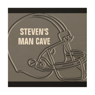 12 X 12 PERSONALIZED FOOTBALL MAN CAVE SIGN