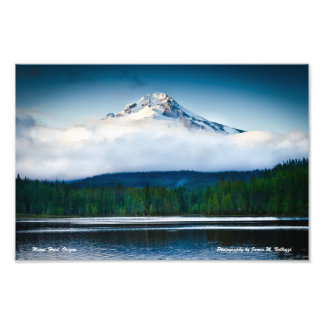 "12"" x 8"" Mount Hood from Trillium Lake Photographic Print"