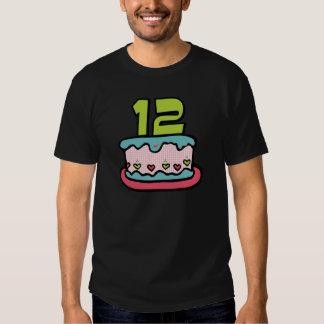 12 Year Old Birthday Cake T-shirts