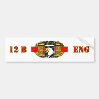 12B 101st Airborne Division Bumper Sticker