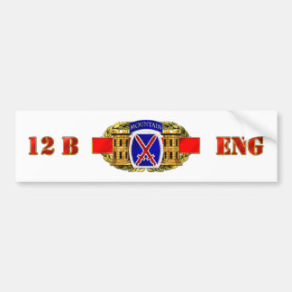 12B 10th Mountain Division Bumper Sticker