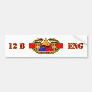 12B 1st Armored Division Bumper Sticker