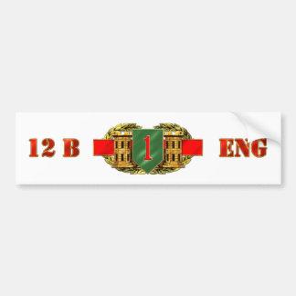 12B 1st Infantry Division Bumper Sticker