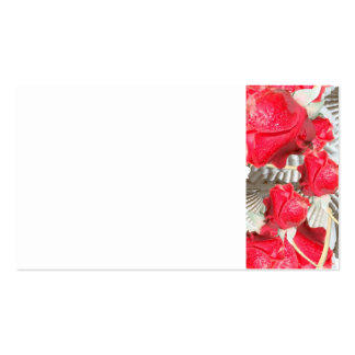 12jpg VICTORIAN RED ROSES WHITE TEXTURED BACKGROUN Business Card Templates