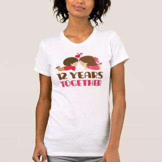 12th Anniversary Gift For Her T-Shirt