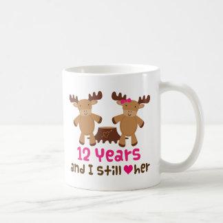 12th Anniversary Gift For Him Basic White Mug