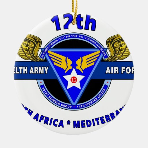 """12TH ARMY AIR FORCE """"ARMY AIR CORPS """" WW II CHRISTMAS TREE ORNAMENTS"""