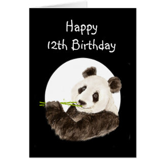 12th Birthday Beary Special Boy with Cute Panda Card