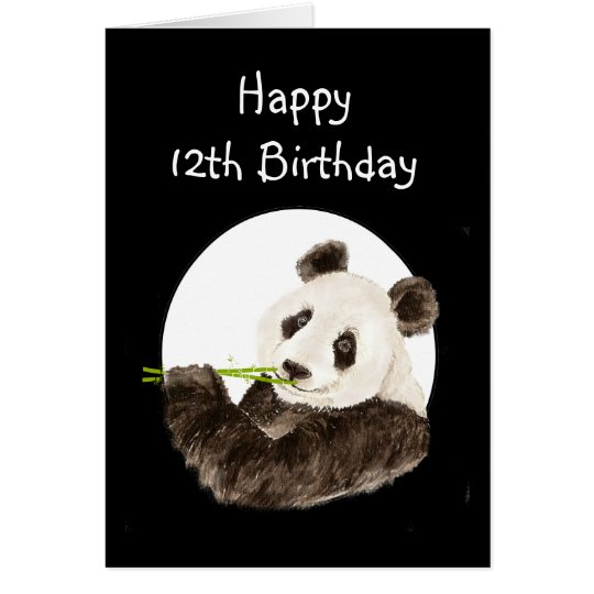 12th Birthday Beary Special Boy with Cute Panda
