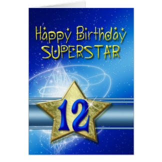 12th Birthday card for Superstar