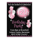 12th Birthday Party Invitation 13 Cm X 18 Cm Invitation Card