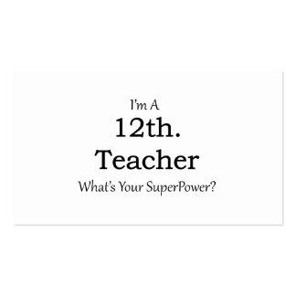 12th. Grade Teacher Pack Of Standard Business Cards