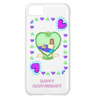 12th linen wedding anniversary, iPhone 5C case