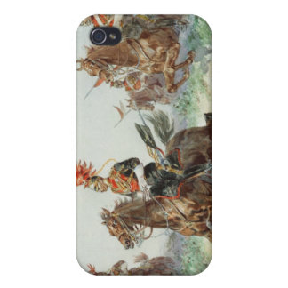 12th Royal Lancers (w/c over pencil heightened wit iPhone 4 Case
