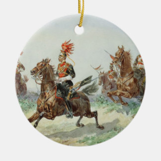 12th Royal Lancers (w/c over pencil heightened wit Round Ceramic Decoration