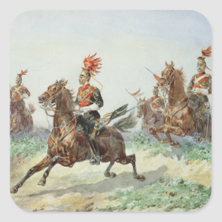 12th Royal Lancers (w/c over pencil heightened wit Square Sticker